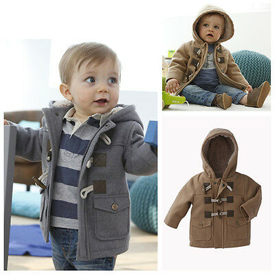 Toddler Baby Boys Winter Coat Kids Clothes Jacket Outerwear Snowsuit Hooded Hat