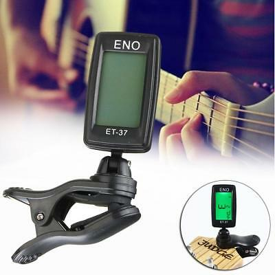 Chromatic Clip-On Digital Tuner for Acoustic Electric Guitar Bass Violin LCD GA