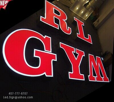 "Led Channel Letter 18"" - WATERPROOF AND DUST PROOF - 2 color Face - Custom made"