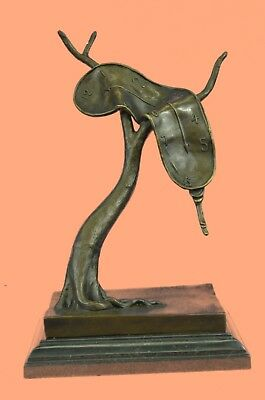 Abstract Modern Art Melting Clock by S Statue Figurine Bronze Sculpture Figure