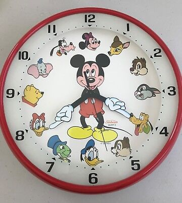 Vintage Mickey Mouse and Friends Wall Clock