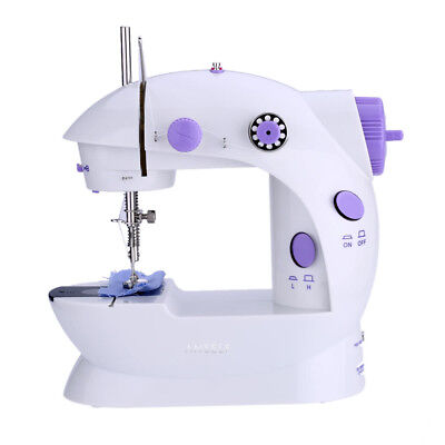 Mini Household Purple Electric Sewing Machine 2 Speed Adjustment UK Plug GW