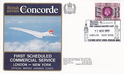 CC156) 1977 First Commercial Service London.New York With Certificate CONCORDE
