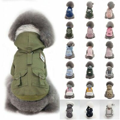 Pet Dog Sweater Hoodie Coat Cat Puppy Winter Warm Down Jacket Costume Apparel US