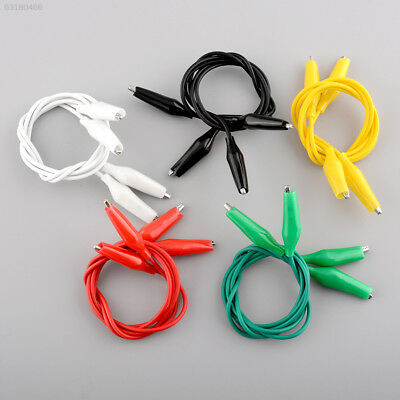 4AC0 10pcs 50cm Double-ended Clips Cable Clips Jumper Wire testing wire Test Lea
