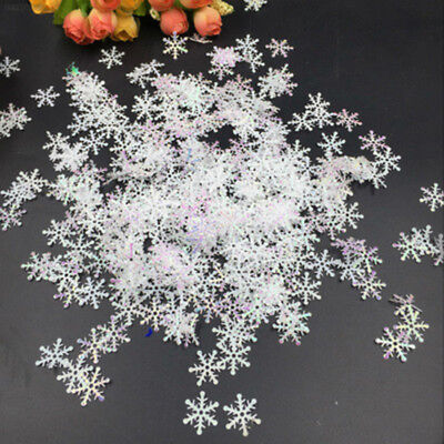 C7C1 300pcs Snowflake Featival Christrams Tree Decoration Hanging Ornaments