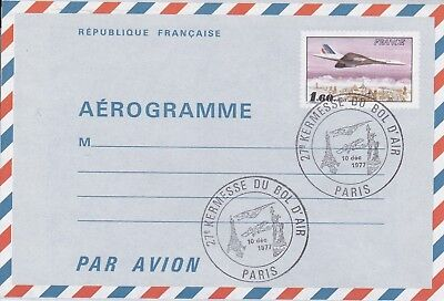 CC183) 1977 Kermesse From The Air Bowl - Aerogramme From Potez 25 To CONCORDE