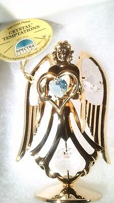CRYSTAL TEMPTATIONS 24k Gold Plated Angel Ornament Spectra Brand New in Box