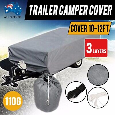 10-12FT Trailer Camper Cover UV Protection Water Repellent Polypropylen Fabric