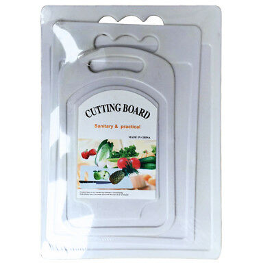 Onex Chopping Board Set | 2 Solid Plastic Kitchen Food Cutting Boards