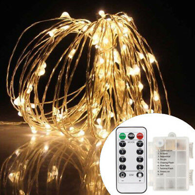10M 100 LED Flexible USB Copper Wire RGB Fairy String Light With Remote Control