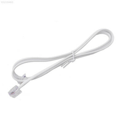 5B4F 2M RJ11 To RJ11 Telephone Cord Phone Cable 6P2C For ADSL Filter Router Fax