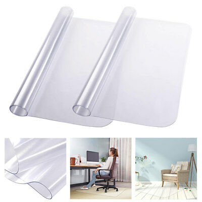 1/2Pcs 120x90cm Chair Floor Mat Carpet Hard Wood Office Computer PVC Protector