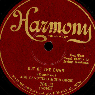 """JOE CANDULLO & HIS ORCH. """"Golden 20's"""" Out of the dawn / King for a Day   S8807"""