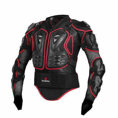 Motorcycle Motorcross Race Full Body Armor Spine Chest Protective Jacket Gear