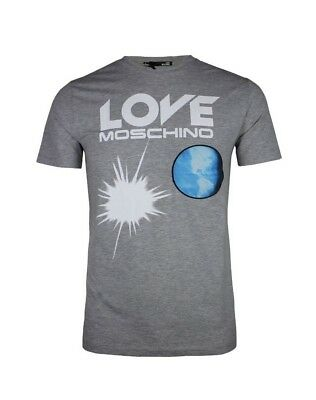 T shirt Love Moschino New Nwt Men Gray Short Sleeve Graphic Tee Size S M L