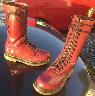 DR MARTENS 1914 cherry red leather boots UK 3 EU 36 - EUR 80,41 ... 8ea41cda045a