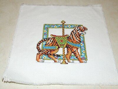Completed Cross Stitch - Tiger