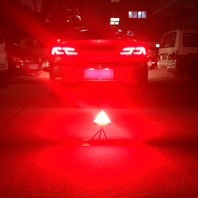 Car Maintenance Emergency Stop Warning Sign Breakdown Triangles LED Stobe Light