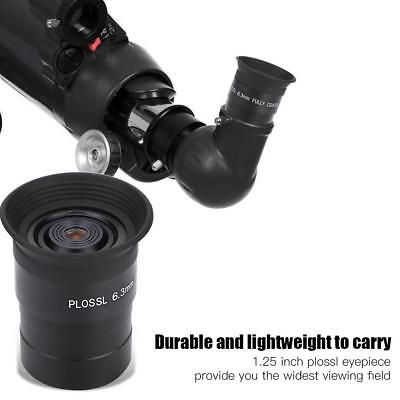 1.25inch PL6.3mm Plossl Eyepiece Telescope Fully Coated for Astronomy Telescope