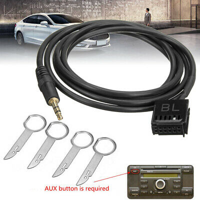 6000CD AUX Input Adapter Cable Cord 3.5mm Jack MP3 Phone+Removal Keys For Ford