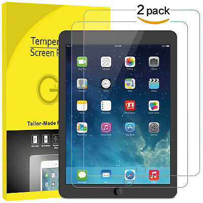 "2-Pack Tempered Glass for Apple iPad 9.7"" inch 2018/2017 iPad Air 1 2 Pro 9.7"