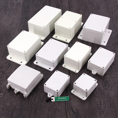 New Plastic Electronics Project Box Enclosure Instrument Case DIY With Screws UK