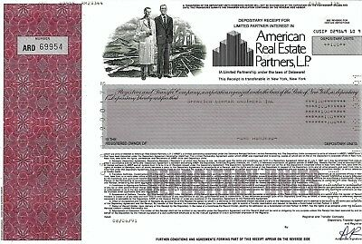 American Real Estate Partners L.P., Delaware, 1991 (100 Shares) Lehman Brothers