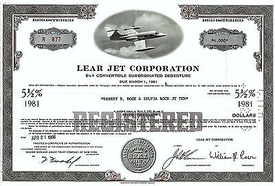 Lear Jet Corporation, 5  1/2% Debenture due 1981, 1966 (4.000 $) William B. Lear