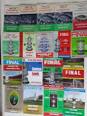 Fa  Cup Final Programmes 1954 To 1980 ~ You Choose Year ~ Very Good Condition