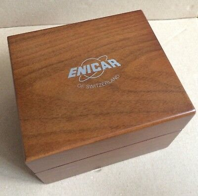 Enicar Watch Box Wood  / Uhrenschachtel Uhrenbox