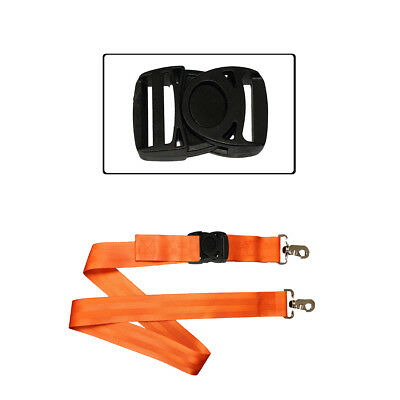Plastic Side Release Clips Adjuster Buckles Backpacks Webbing Straps 25mm x 55mm
