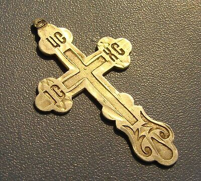 Ancient Cross SILVER PERIOD OF THE KINGS OF RUSS.* 84 test of silver* ORIGINAL.