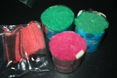 New Wool Latch Hook Yarn Lot Spinnerir Green Rose Pink Rug Wall Decorations  -G