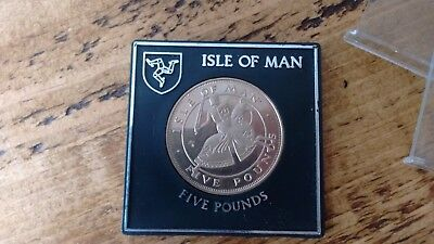 Isle of Man £5 coin 1985 mint boxed