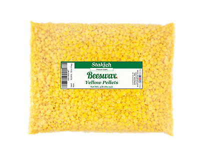 5 lb Yellow Beeswax Pellets Bee Wax 100% Natural Beads Granules Pearls on SALE