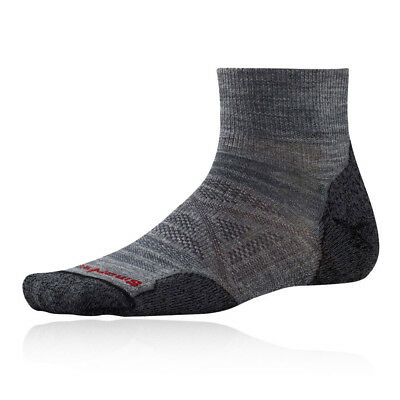 a50ec35bb53 SMARTWOOL PHD LIGHT Crew Mens Grey Outdoors Running Sports Socks ...