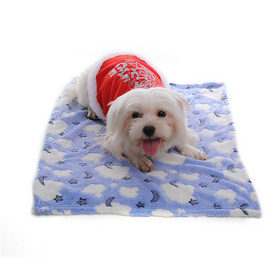 Warm Pet Mat Paw Print Cat Dog Puppy Fleece Soft Blanket Bed Cushion  Kitten NEW