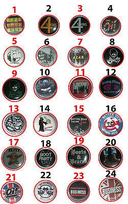 "SKIN ""BUTTONS"" Oi!/Skinhead/Punk/Way of Life/Möh!/Bands/Teil 1/Boots and Braces"