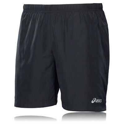 ASICS 7 Inch Mens Black Woven Running Training Sports Shorts Bottoms Pants
