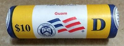 """2009 D Guam Territorial Quarter """"Beautiful"""" Yellow Coin Roll from the US Mint"""