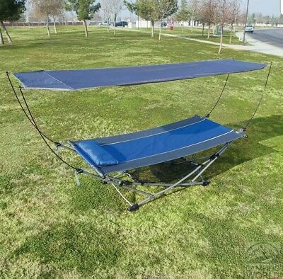 New!!! Hammock With Sun Shade, pillow and carry bag on wheels.