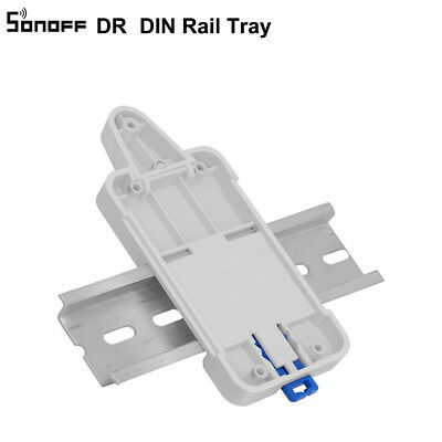 2PCS Sonoff DR DIN Rail Tray Mounted Case Holder Mount For Sonoff TH10/16/G1