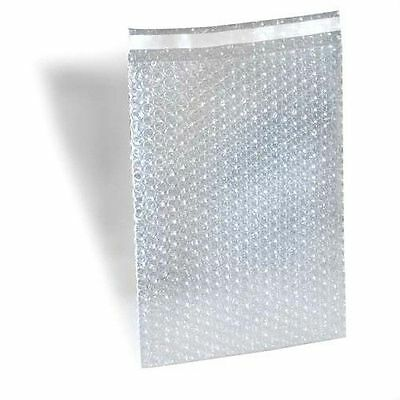 """Bubble Out Padded Mailers 8"""" x 11.5"""" Clear w/ High Adhesive Seal Strip 350 pcs"""