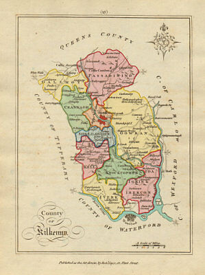 County of Kilkenny, Leinster. Antique copperplate map by Scalé / Sayer 1788