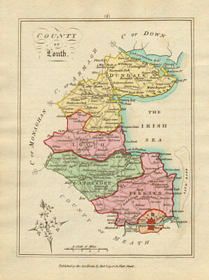 County of Louth, Leinster. Antique copperplate map by Scalé / Sayer 1788