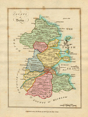 County of Dublin, Leinster. Antique copperplate map by Scalé / Sayer 1788