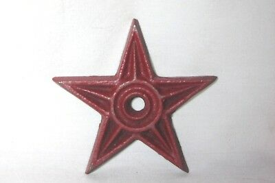 """Vintage 3"""" Cast Iron Metal Architectural Masonry Star Washers Red"""
