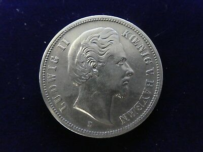 5 Mark Bayern, Ludwig II., 1875, original