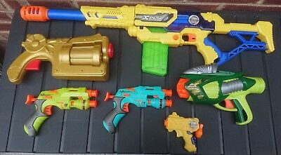 Bundle / Joblot Of 6 Toy Guns Zuru X Shot / Skylanders (Nerf Style Type)